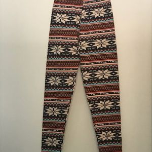 Pants - Multicolored printed leggings One Size